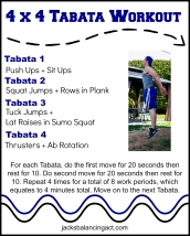 Tabata Workout Graphic