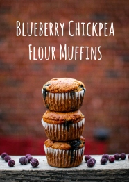 chickpea flour muffins graphic