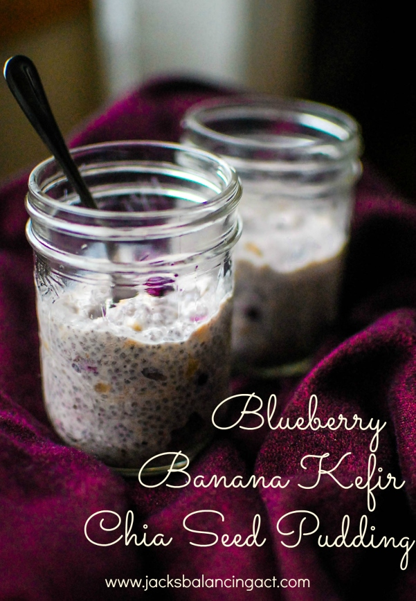 Blueberry Banana Kefir Chia Seed Pudding